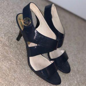 Navy Michael Kors heel/sandal
